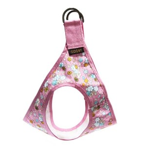 Gooby 76009-PNKF-S Picnic Step-In Harness Pink Flower Small Strap