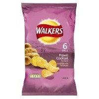 Walkers Prawn Cocktail Crisps 6 Pack 150g by Walkers