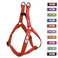 Pawtitas Reflective Dog Harness Extra Small Red 3/8 Inch by PAWTITAS