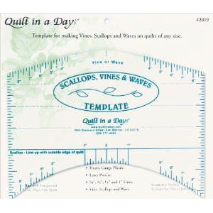 """Quilt In A Day Scallops, Vines & Waves Template-9""""X7"""" (並行輸入品)"""