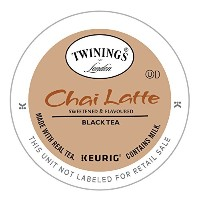 Twinings, Chai Latte, Sweetened Black Tea, 12 K-Cup Packs, 0.53 oz (15 g) Each