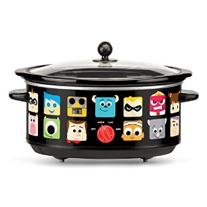Disney Pixar Oval Slow Cooker, 7 quart, Black [並行輸入品]