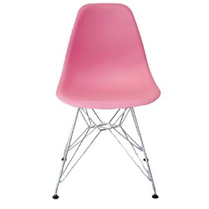 【Hilax】 Eames イームズチェア リプロダクト (ピンク/スチール)