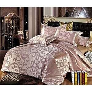 FeiLimei Bedding&Clothes 布団カバー4点セット 淡ベージュBC504