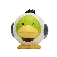 HuggleHounds Extremely Durable Squeaky Ruff Tex Duck Knottie Animal Character XL