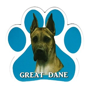 GREAT DANE 足跡マグネットステッカー:グレートデーン(フォーン) 画像イラスト入り 英語犬種名 Designed in the U.S.A [並行輸入品]