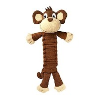 Kong Bendeez Monkey Squeaky Bend Twist Durable Interactive Pet Dog Toy Small