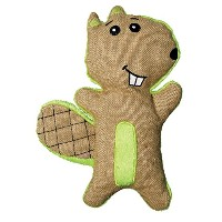 Kong Hemp Friends Beaver Cuddly Squeak Crinkle Sound Dog Interactive Toy Small