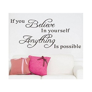 "Decorative Wall ""Believe In Yourself"" Creative Wall Quote Sticker"