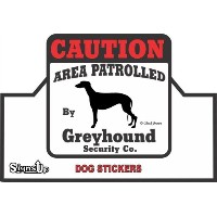 【CAUTION】 Greyhound Security Co. ステッカー:グレイハウンド 耐水性 シール Made in U.S.A [並行輸入品]