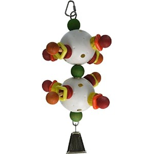 Paradise 3D Double Ball with Bell Chew Toy, 5.5 by 5.5 by 11-Inch [並行輸入品]