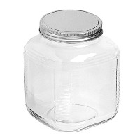 Anchor Hocking 85725 Cracker Jar Brushed Lid, 1 gal, Clear by Anchor Hocking