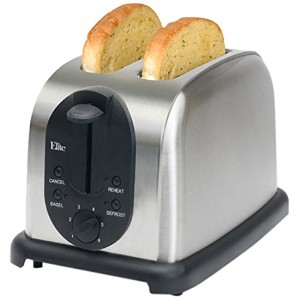 Elite Platinum ECT-200X Maxi-Matic 2-Slice Toaster, Brushed Stainless Steel by Elite Platinum