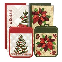 Town & Country Living クリスマス キッチン6点セット B タイプ (キッチンタオル×4 鍋敷き×2) Christmas 6Pack Kitchen Towel & Pot...