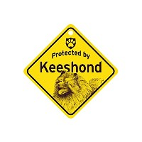 Protected by Keeshond スモールサインボード:キースホンド 監視中 ミニ看板 アメリカ製 Made in U.S.A [並行輸入品]