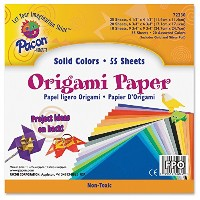 Origami Paper, 30 lbs., 9-3/4 x 9-3/4, Assorted Bright Colors, 55 Sheets/Pack (並行輸入品)