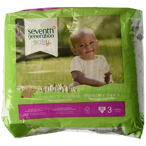 Seventh Generation Free & Clear Sensitive Skin Baby Diapers - Assorted (Solid or Print) - Size 3 -...