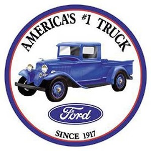 Ford Trucks Tin Sign 12 x 12in by Poster Revolution
