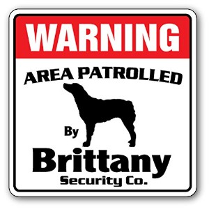 WARNING AREA PATROLLED By Brittany Security Co.サインボード:ブリタニー 警備会社 セキュリティー パトロール 看板 Made in U.S.A ...
