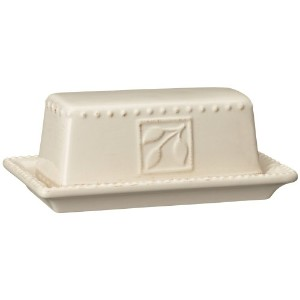 Signature Housewares Sorrento Collection Butter Dish, Ivory Antiqued Finish by Signature Housewares