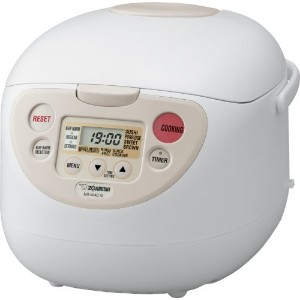 Zojirushi NS-WAC18 Micom Fuzzy-Logic (Uncooked) 10-Cup Rice Cooker and Warmer, 1.8-Liters by...