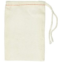 Cotton Drawstring Muslin Bags, 3 X 5 - by Unknown