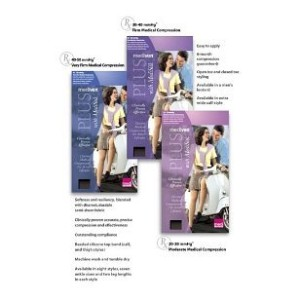 Mediven Plus, Knee-High with Top Band, 30-40mmHg, Petite, Open Toe, Compression Stocking, Beige,...