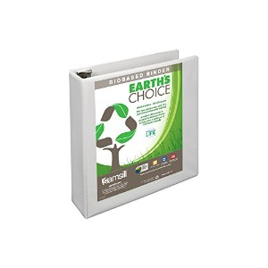 "Earth's Choice Biodegradable Angle-D Ring View Binder, 2"", White (並行輸入品)"