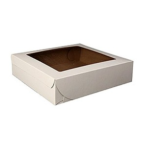Pie Box with Window, 9 by 9 by 2.5-Inches by Golda's Kitchen