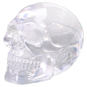 Small Clear Translucent Skull Collectible Figurine by Summit