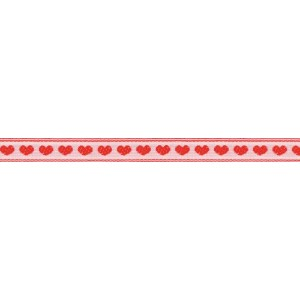 """Hearts Ribbon 1/2"""" Wide (size 2) 10 Yards-Red On White (並行輸入品)"""