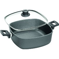 Woll NowoチタンSquare Casserole Pan with Sideハンドルと蓋、6.3-quart