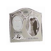 Juliana P/Frame 2Tone S/Plated Double Anniversary - 25th by Juliana