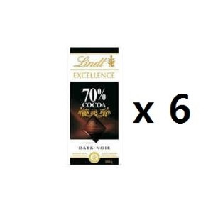 リンツ(Lindt) Chocolate Block Excellence 70% Dark 100g 6EA [海外直送] [並行輸入品]