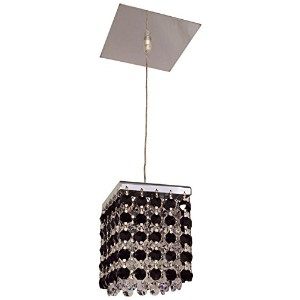 Classic Lighting 16101 BLK-CP Bedazzle, Crystal, Light Pendant, Chrome by Classic Lighting
