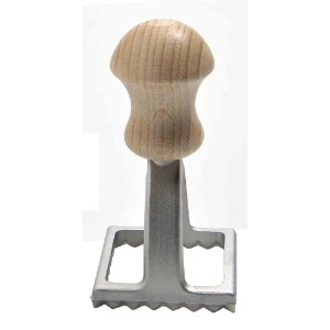 Eppicotispai Aluminum Square Ravioli Stamp with Beechwood Handle, 2-Inch by 2-Inch by Eppicotispai