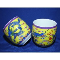 Tea Cup w/ Dragon Picture