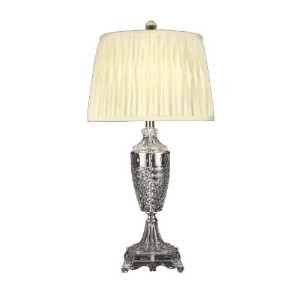 Dale Tiffany GT10226 Crystal Table Lamp, Nickel and Fabric Shade by Dale Tiffany Lamps