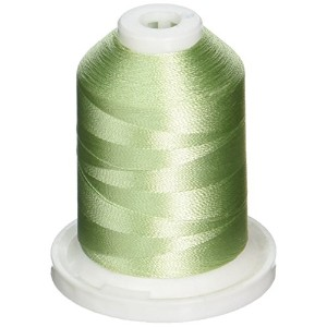 Rayon Super Strength Thread Solid Colors 1100 Yards-Pastel Green (並行輸入品)