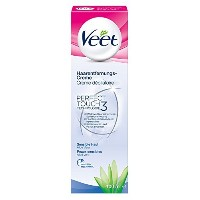 Veet Hair Removal Cream for Sensitive Skin, with Aloe Vera and Vitamin E, 100 ml by Veet