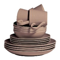 Royal Doulton Maze Taupe 16 Piece Set, Brown by Royal Doulton