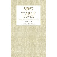 Entertaining with Caspari Moire Printed Paper Table Cover, 54 by 84-Inch, Gold by Caspari