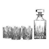 Royal Doulton Crystal 28 Ounce Decanter & Six 11 Ounce Old Fashioned Glasses by Royal Doulton
