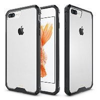 iPhone 7 plus(5.5inch) Case,SOUNDMAE Armor Transparent Clear TPU Frame Shockproof Protective Case...