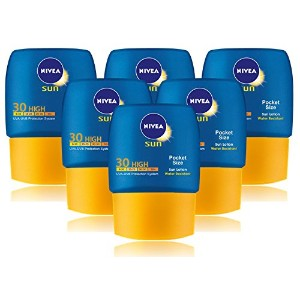 6x Nivea Sun Lotion SPF30 High Pocket Size 50ml by Nivea