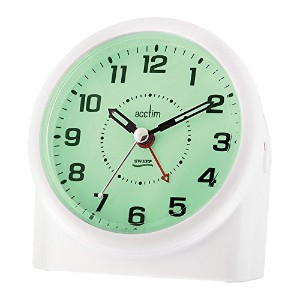 Acctim 14282 Central Smartliteテつョ Sweeper Alarm Clock, White by Acctim