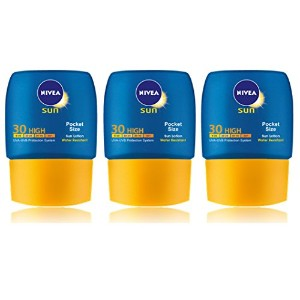 3x Nivea Sun Lotion SPF30 High Pocket Size 50ml by Nivea
