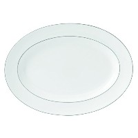 Royal Doulton Signature Platinum Platter, 14, White by Royal Doulton