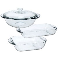 Anchor Hocking Fire King 4 PieceガラスBakeware Set