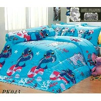 Lilo & Stitch Official Licensed Bed Sheet Set - Fitted Sheet, Pillow Case, Bolster Case (Not...
